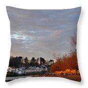 Obear Park At Sunset Throw Pillow