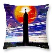 Obelish Eclipse Throw Pillow
