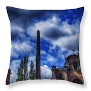 Obelisk In Gamla Stan Throw Pillow