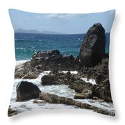 Obelisk In The Sea Throw Pillow
