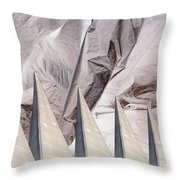 Obelisks Aligned Throw Pillow