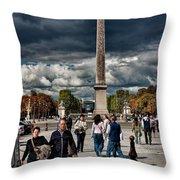 Obelisque De Luxor Throw Pillow
