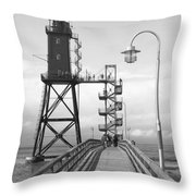 Obereversand Lighthouse - North Sea - Germany Throw Pillow