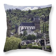 Oberwesel Old And New Throw Pillow