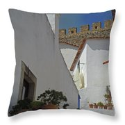 Obidos Portugal Walkway Throw Pillow