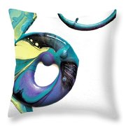 Oblique Paint Throw Pillow