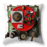 Obot Bot Throw Pillow by Jen Hardwick
