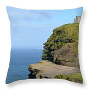 O'brien's Tower Along The Cliff's Of Moher In Ireland Throw Pillow