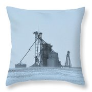 Obscured By Snow Two Throw Pillow