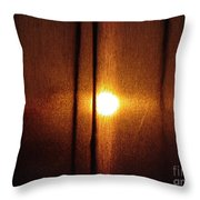 Obscured Sunset Throw Pillow