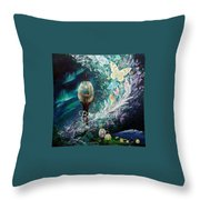 Observation Deck Throw Pillow