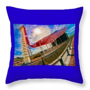 Observation Tower Circuit Of The Americas Throw Pillow