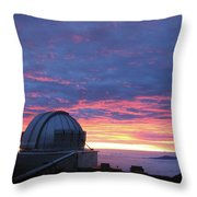 Observatory Sunset Throw Pillow