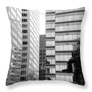 Observing The City Throw Pillow