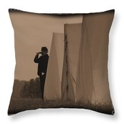 Observing The Field Of Battle Throw Pillow