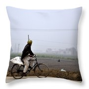 Observing The Fields Throw Pillow