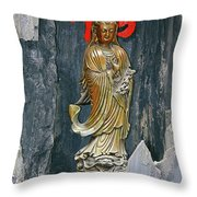Observing The Sounds Of The World Throw Pillow by Christine Till
