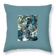 Obsidian In Newberry National Volcanic Monument, Oregon  Throw Pillow