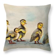Obstacle Course Throw Pillow by Dee Carpenter