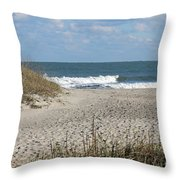 Obx Beach And Dunes Throw Pillow