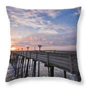 Obx Sunrise Throw Pillow by Adam Romanowicz