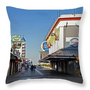 Oc Boardwalk Throw Pillow by Skip Willits