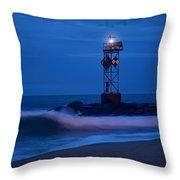 Ocean City Dawn Surf Throw Pillow