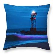 Ocean City Dawn Surf Painted Throw Pillow