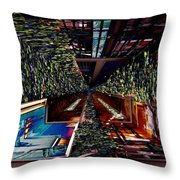 Occidental Park Cafe Throw Pillow