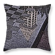 Occidental Park Checkerboard Throw Pillow