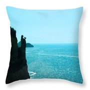 Ocean At Amalfi Throw Pillow