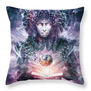 Ocean Atlas Throw Pillow