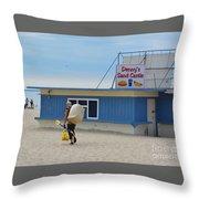 Ocean Beach In September Throw Pillow