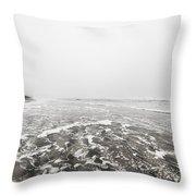 Ocean Beach In Tasmania Throw Pillow