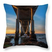Ocean Beach Pier Throw Pillow