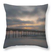 Ocean Beach Pier San Diego Ca Throw Pillow