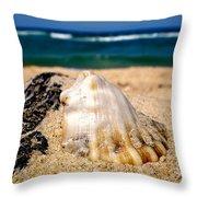 Ocean Beyond A Shell Throw Pillow