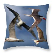 Ocean Bird Collage Throw Pillow