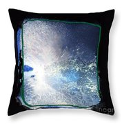 Ocean - Black And White Abstract Throw Pillow
