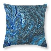 Ocean Blue 2 Throw Pillow