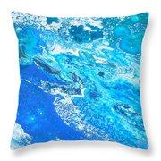 Ocean Blue -tac Throw Pillow