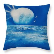 Ocean Blue Throw Pillow