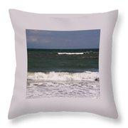 Ocean - Blue - Waves Throw Pillow