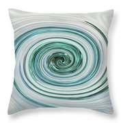 Ocean Blue Whip Throw Pillow