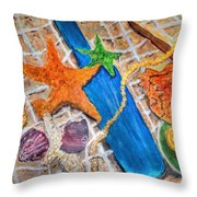 Ocean Bounty Throw Pillow