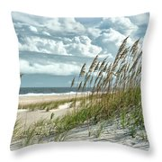 Ocean Breeze At Fort Fisher - Number One Throw Pillow
