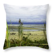 Ocean Calm Before Sunrise - Rocky Neck State Park Throw Pillow