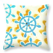 Ocean Circles Throw Pillow