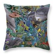 Ocean Circus Throw Pillow