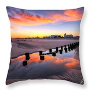 Ocean City Afterglow Throw Pillow